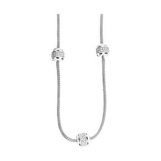 Naszyjnik srebrny z beczułkami PW 240 próba 925