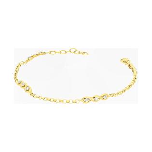 Bransoleta złota cyrkonie w łezce x12/rolo PX 723 próba 585