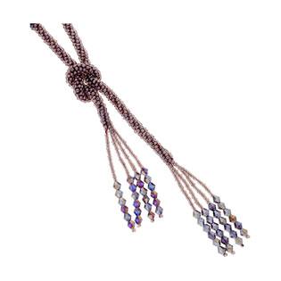 Naszyjnik z fioletowymi kamieniami jubilerskimi SR KOR228 fiolet