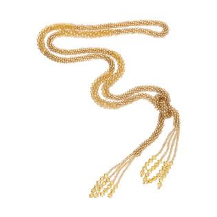 Naszyjnik z kamieniami jubilerskimi w złotym kolorze SR KOR228 złoto