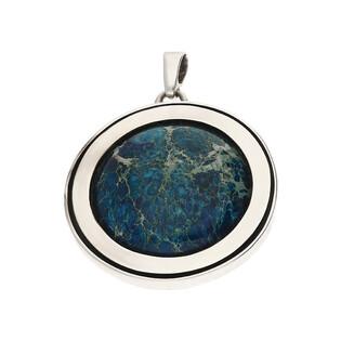 Zawieszka srebrna koło z lapis lazuli M2 ARTIS D.Grzenkowski lapis laz próba 925