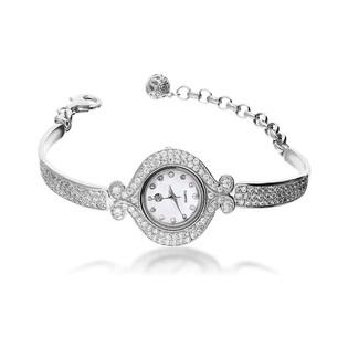Zegarek srebrny okrągły zakręcony nr AT Z0025-B próba 925