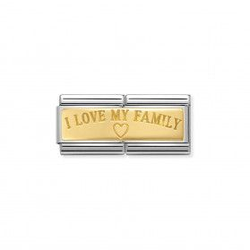 Element link 18K DOUBLE i love my family NP 030710 03