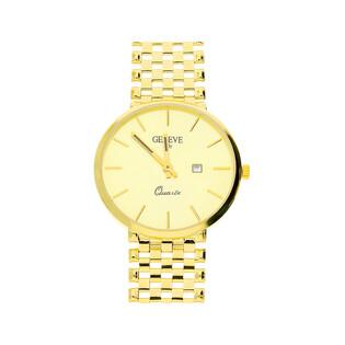 Zegarek złoty okrągły klasyka 4r MI GENEVE M164-1 próba 585