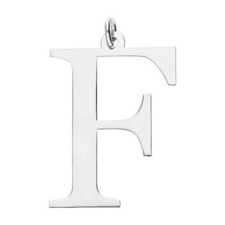 Literka srebrna F do zawieszenia A6 07972287-06 próba 925