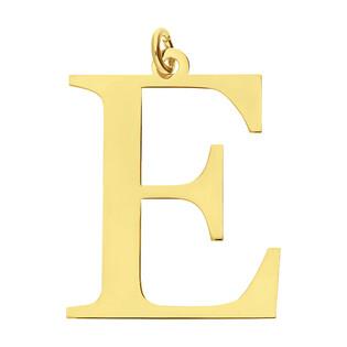 Literka pozłacana E do zawieszenia A6 07982287-05 próba 925