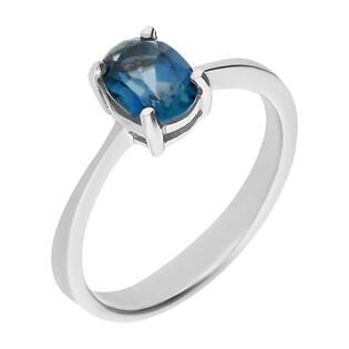 Pierścionek srebrny z topazem blue BB ALPK0004 próba 925