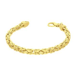 Bransoleta srebrna pozłacana splot królewski nr BC 1380-120 4l GOLD AG 925 Sezam - 1