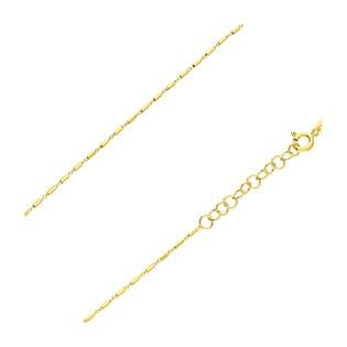 Łańcuszek pozłacany o splocie fantazja z pałkami BC 1KF025TD8 GOLD próba 925
