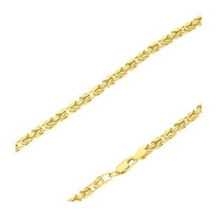 Łańcuszek pozłacany o splocie królewskim BC 1380-080 4l GOLD próba 925