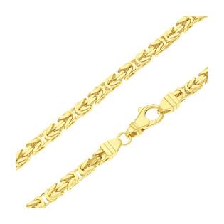 Łańcuszek pozłacany o splocie królewskim BC 1380-140 4l GOLD próba 925