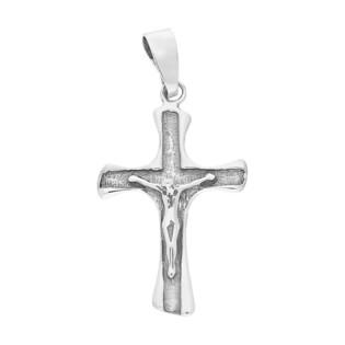 Krzyżyk srebrny żłobiony z wizerunkiem DA K186 OX próba 925