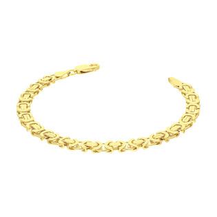 Bransoleta pozłacana o splocie bizantyna BC 1810-115 GOLD próba 925