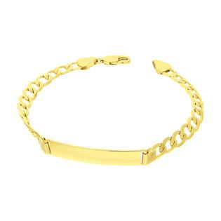 Bransoleta złota prostokątna blaszka/pancer BC GAXPDE 0+1 160+blaszka próba 585