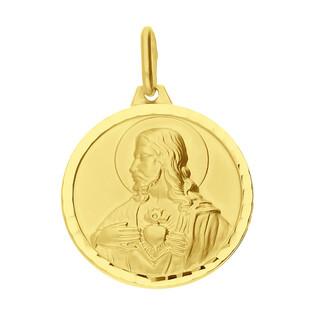 Medalik złoty Szkaplerz w kole BC M-0918s próba 585