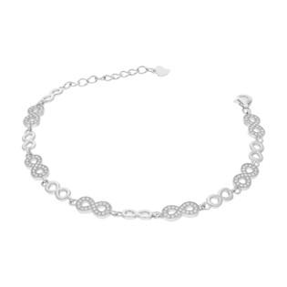 Bransoleta srebrna z symbolami nieskończoności HS A0674-1 próba 925