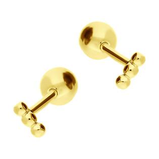Kolczyki pozłacane diorki kulki 3mm HS1252-1 GOLD próba 925