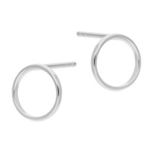 Kolczyki srebrne kółko ramka 10 mm/sztyft JA951ROD próba 925