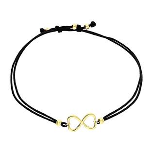Bransoleta złota sznurkowa z symbolem infinity z serc LP 34U25-B0052-Y-IP próba 333