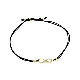 Bransoleta złota sznurkowa infinity z cyrkoniami+love LP 34U25-B0096-Y-IP próba 333