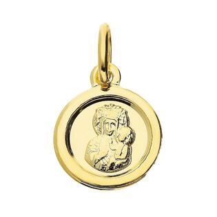 Medalik Częstochowska okrągła blask CB M-1257 próba 333