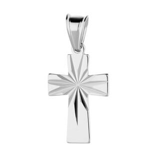 Krzyżyk srebrny grawerowany z kwadratowymi ramionami MV GKD039 próba 925
