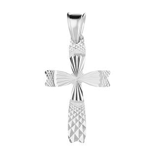 Krzyżyk srebrny grawerowany 3D MV KD115 próba 925