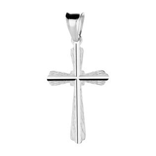 Krzyżyk srebrny grawerowany ramiona w szpic MV KD124 próba 925