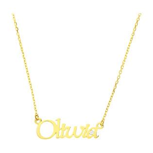 Naszyjnik złoty z imieniem Olivia/anker MZ T5-NN-15-CZ próba 375