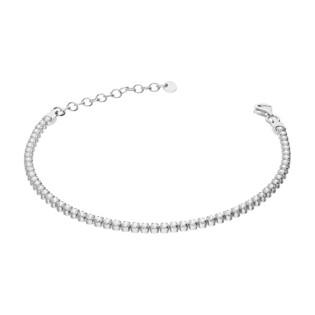Bransoleta srebrna z rzędem cyrkonii NI BRN27841 próba 925