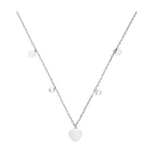 Naszyjnik srebrny z wiszącymi sercami i cyrkoniami/anker NI GIA11726 próba 925