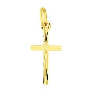Krzyżyk złoty grawerowany dla dziecka nr OS 32-30-13 próby 585 Sezam - 1