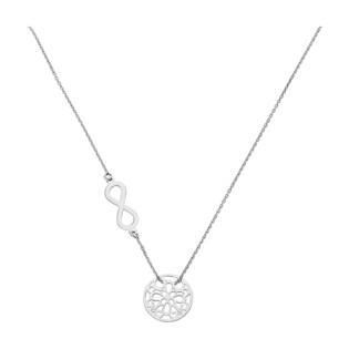 Naszyjnik srebrny ażurowe kółko i infinity/anker PW 015 kółko+infinity ROD próba 925