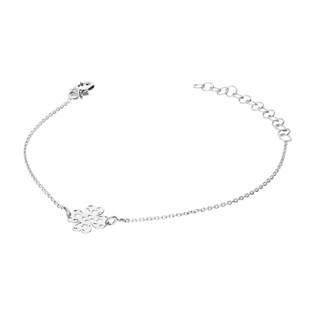 Bransoleta srebrna koniczyna ażurowa z serc PW 016 koniczyna ażur ROD próba 925