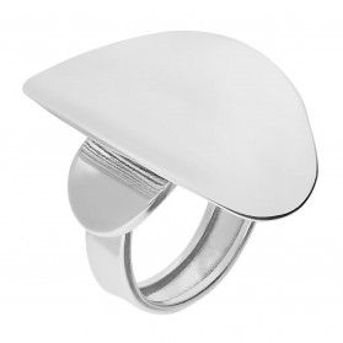 Pierścionek srebrny wklęsły owal/regulowany UN 849 próba 925