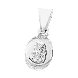 Medalik srebrny Częstochowska w grawerowanym owalu MV GMD091a rod próba 925