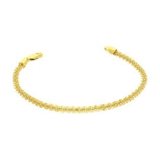 Bransoleta pozłacana o splocie daisy BC 1820-060 GOLD próba 925
