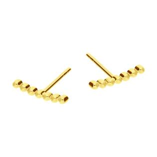 Kolczyki złote łuk z kulek beads/sztyft MZ T5-E-VL-13 próba 585