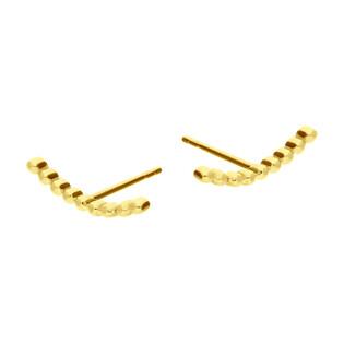 Kolczyki złote łuk z kulek beads/sztyft MZ T5-E-VL-14 próba 375