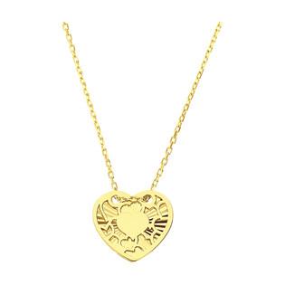 Naszyjnik złoty grawerowane serce/anker MZ T23-N-0218-2-LZ próba 375