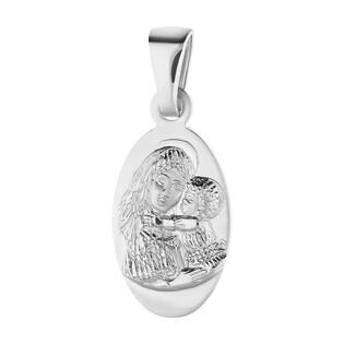 Medalik srebrny MB z Dzieciątkiem w owalu NI XCI01922 próba 925