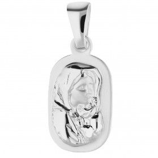 Medalik srebrny MB Cygańska w owalnym prostokącie NI XCI01922-1 próba 925