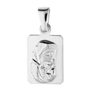Medalik srebrny MB Cygańska w prostokącie NI XCI01924 próba 925