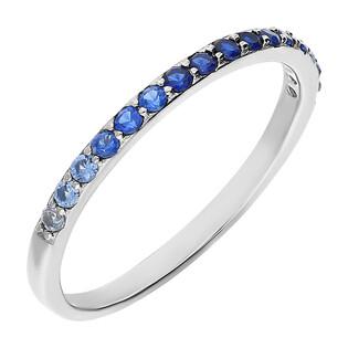 Pierścionek srebrny z niebieskimi cyrkoniami PW337 próba 925