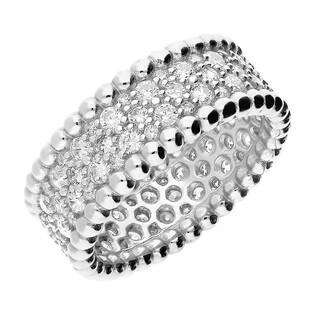 Pierścionek srebrny LINE z białymi cyrkoniami PX 866 próba 925