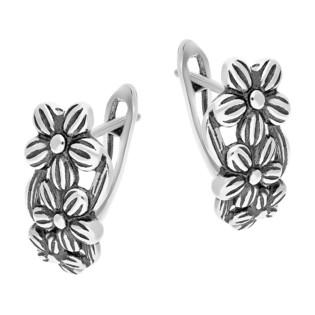 Kolczyki srebrne kwiatki/ang.zap. TB 15351-15350 próba 925