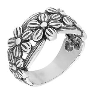 Pierścionek srebrny z kwiatkami TB 15352-15351 próba 925