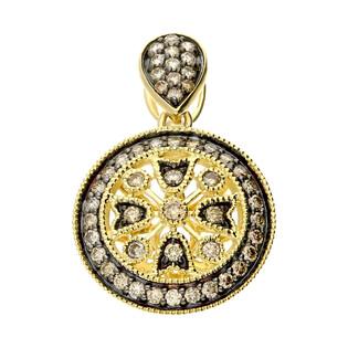 Zawieszka złota kółko z szampańskimi diamentami LC JE5264-JP6793 CH próba 585