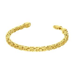 Bransoleta pozłacana splot królewski BC 1380-100 4l GOLD próba 925