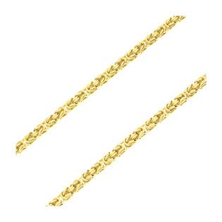 Łańcuszek pozłacany splot królewski BC 1380-100 4l GOLD próba 925